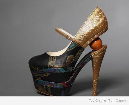 Туфли на высоких шпильках