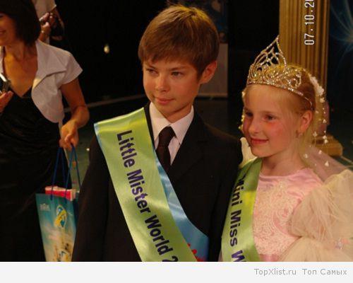 Мальчик на конкурсе красоты