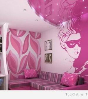 Розовый в интерьере комнаты