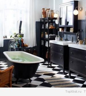 Интерьер прихожей и ванной комнаты