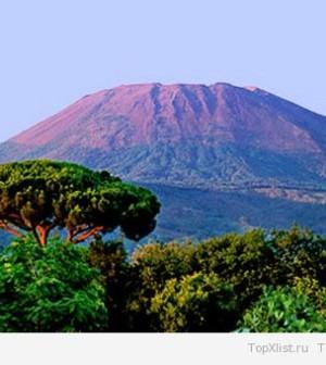 Везувий - самый известный вулкан в Италии
