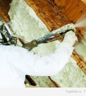 Напыляемая теплоизоляция: пенополиуретан (ППУ), экотермикс