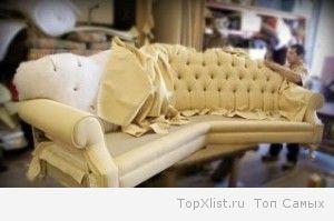 Этапы работ по перетяжке мебели